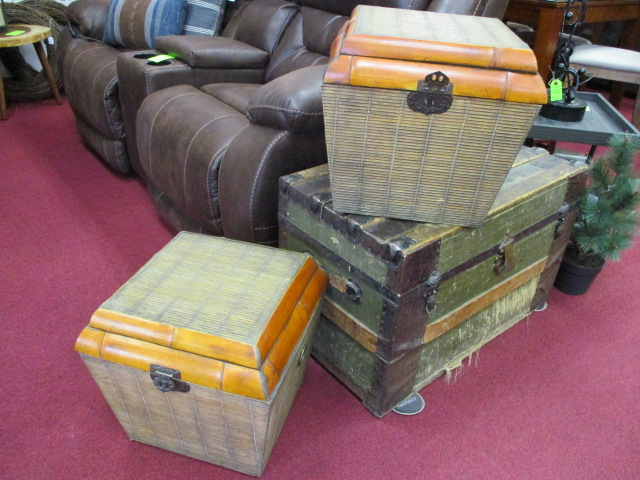 Bamboo Rattan Floor Boxes $39 each