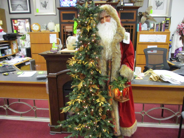 Ditz Designs Santa $599 with Lighted Tree