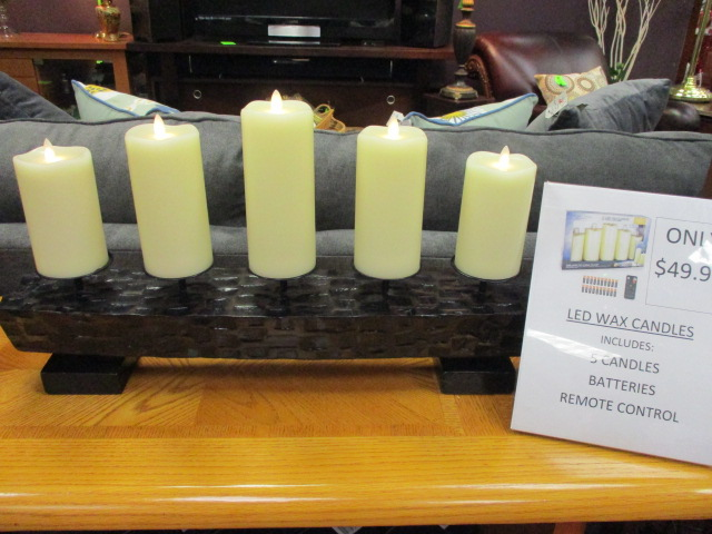 Battery Op Candles Set of 5 $49.99